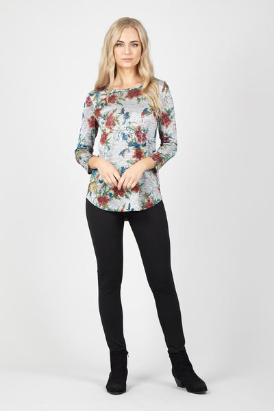 Floral Knit Top - Izabel London
