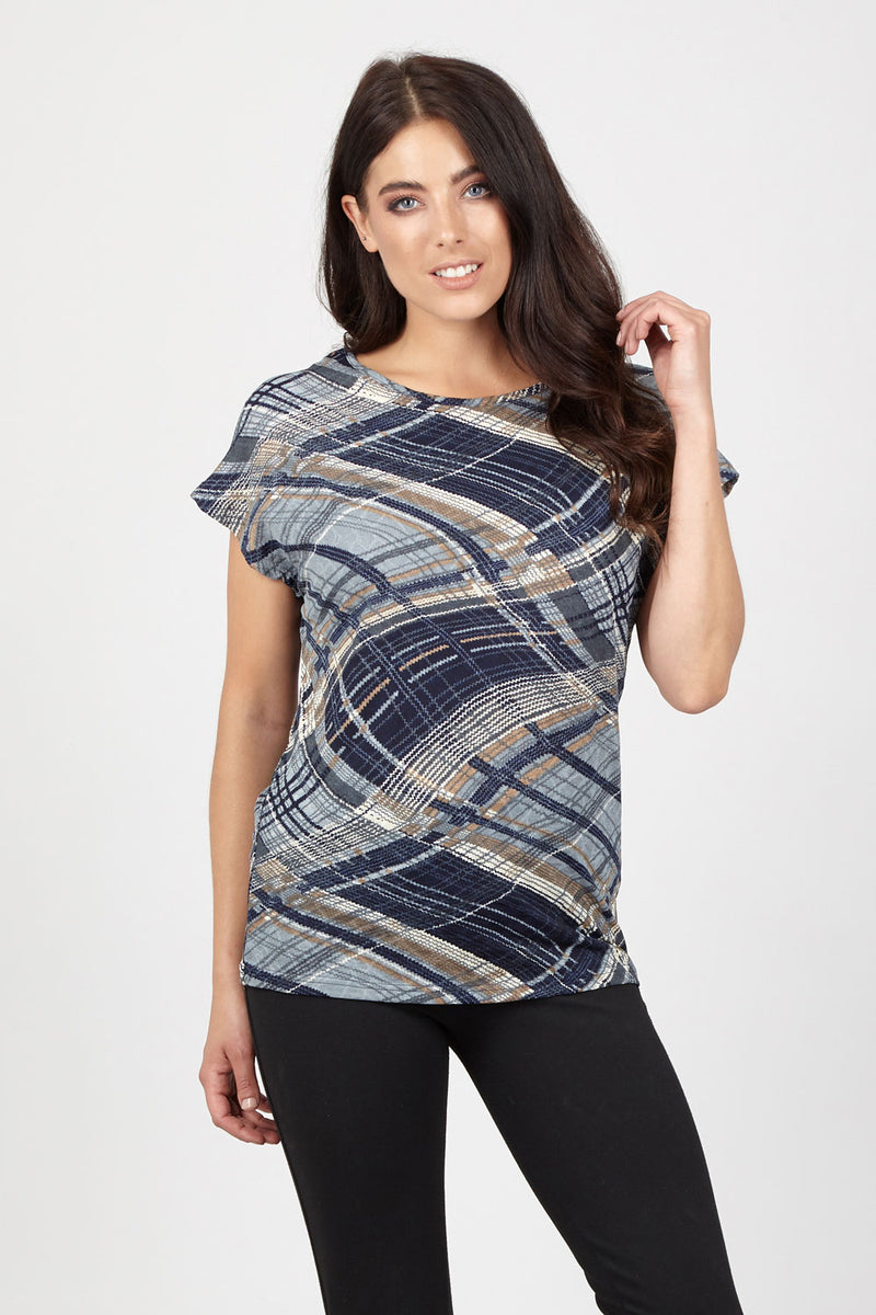 Patchwork Boxy Top - Izabel London