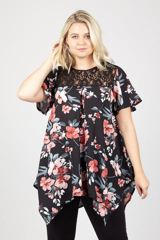 Curve Floral Tulip Dress
