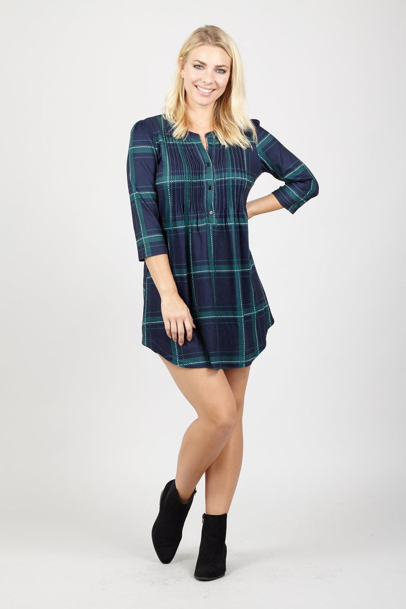 Checked Oversized Shirt - Izabel London