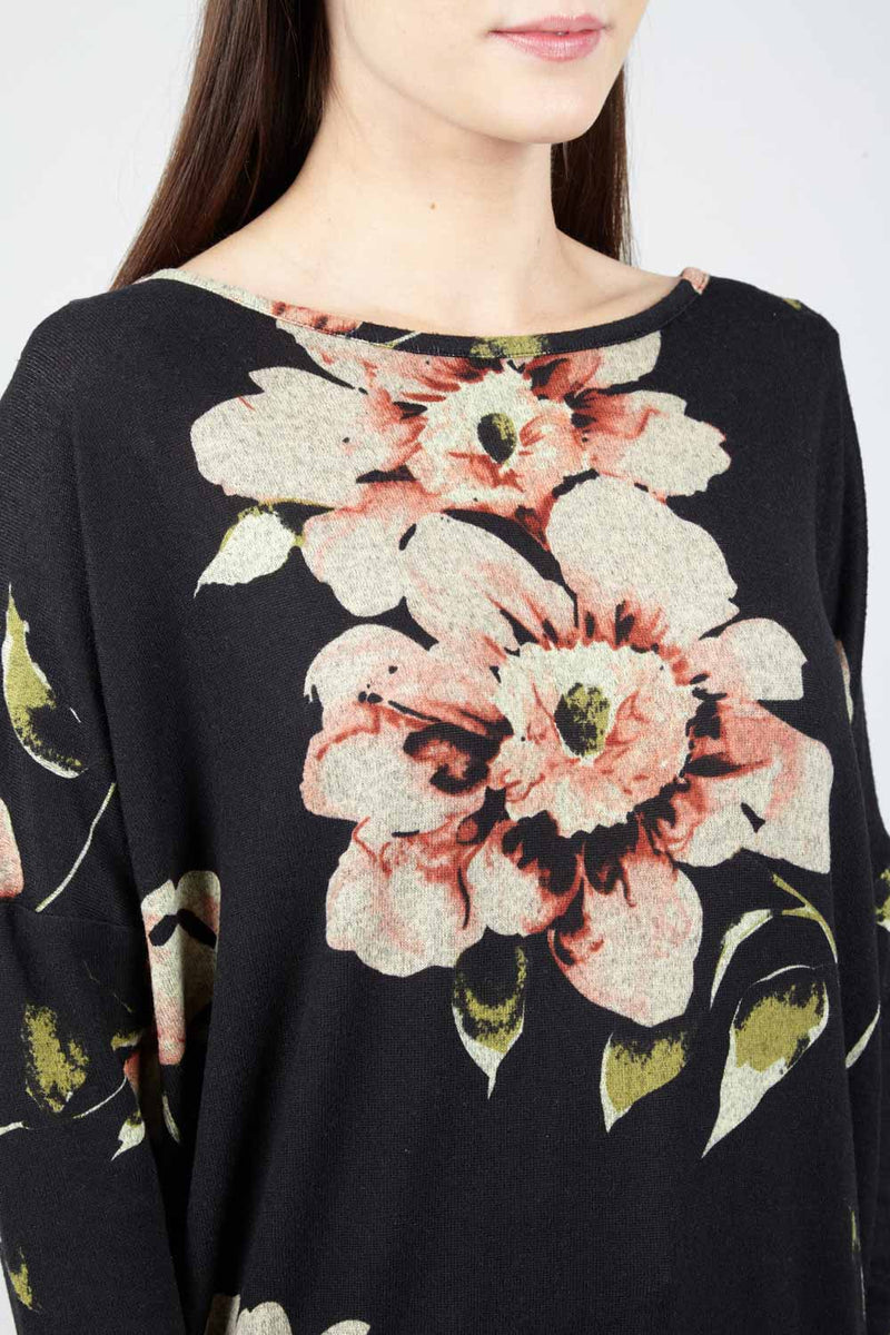 Floral Oversized Jumper - Izabel London