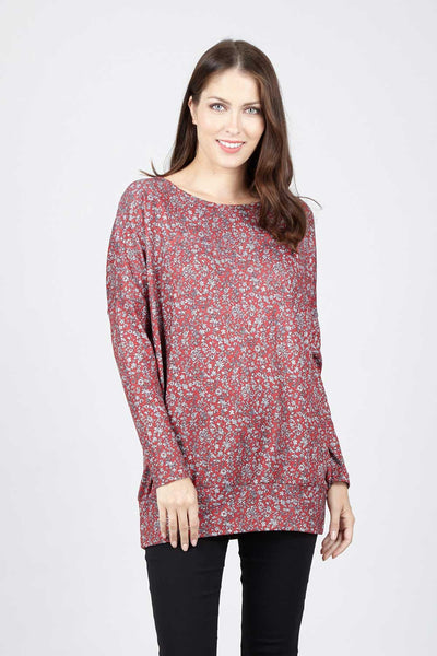 Oversized Floral Top - Izabel London