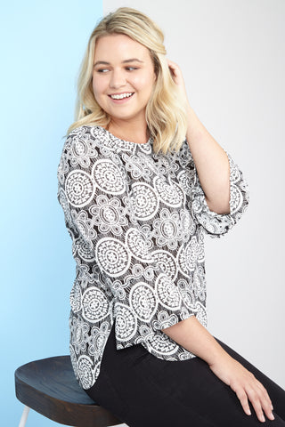 Curve Floral Layered Top