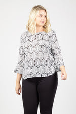 Mosaic Oversized Top - Izabel London