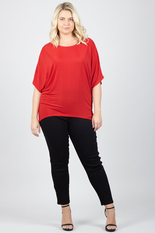 Curve Batwing Top - Izabel London