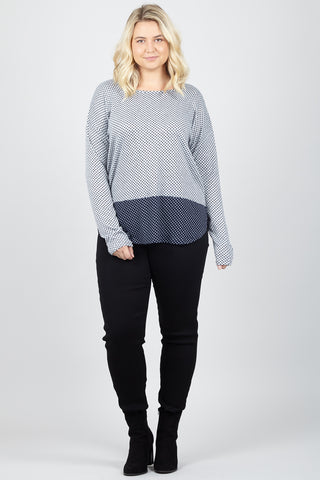 Stripe Jumper With Scarf