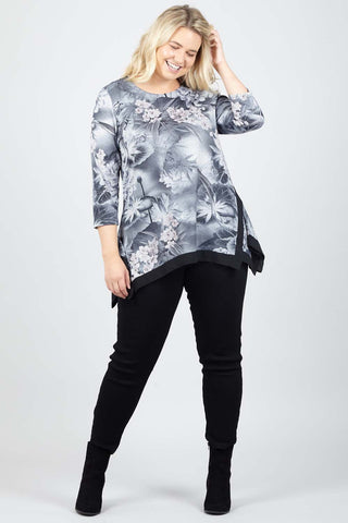 Paisley Lace Top With Dip Back Hem
