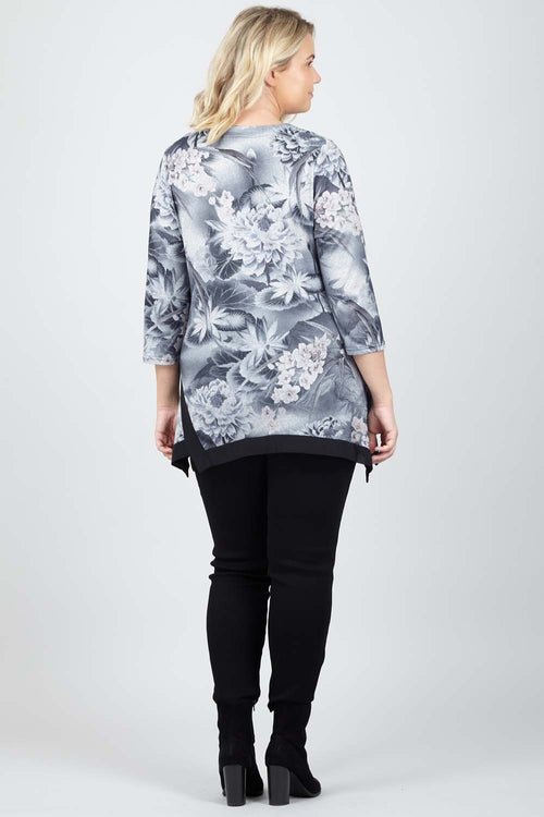 Curve Floral Asymmetric Top - Izabel London