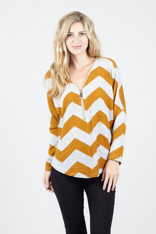Kaleidoscope Turn-Up Sleeve Top