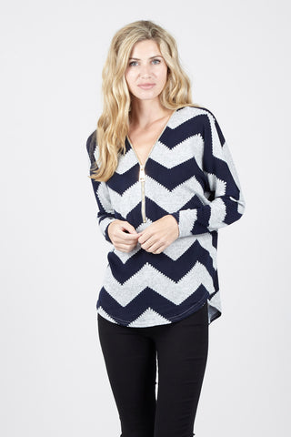 Contrast Stripe Long Shirt
