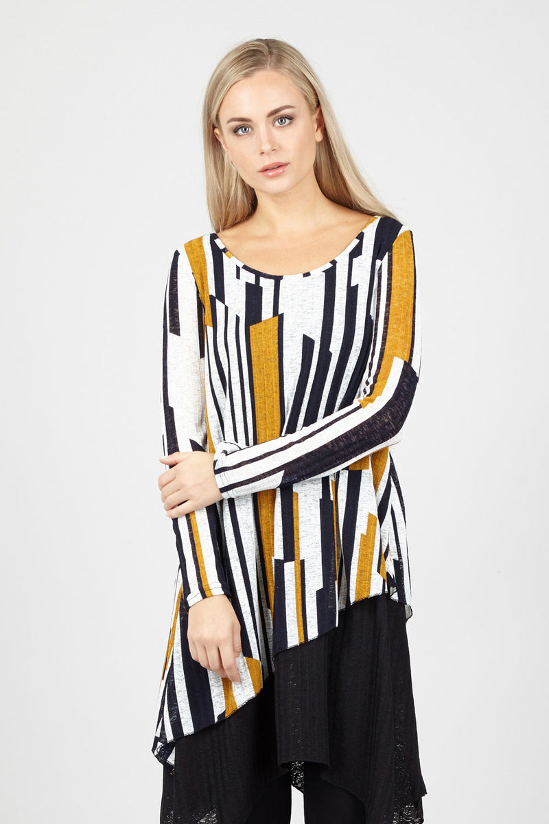 Yellow | Geo Oversized Top
