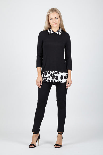 Animal Layered Sweater - Izabel London