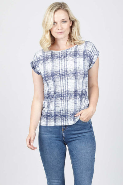 Blurred Check Top - Izabel London