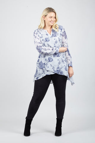 Floral Knit Tunic Top