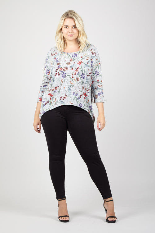 Ditsy Floral Knit Top - Izabel London