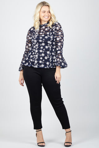 Floral & Sequin Top