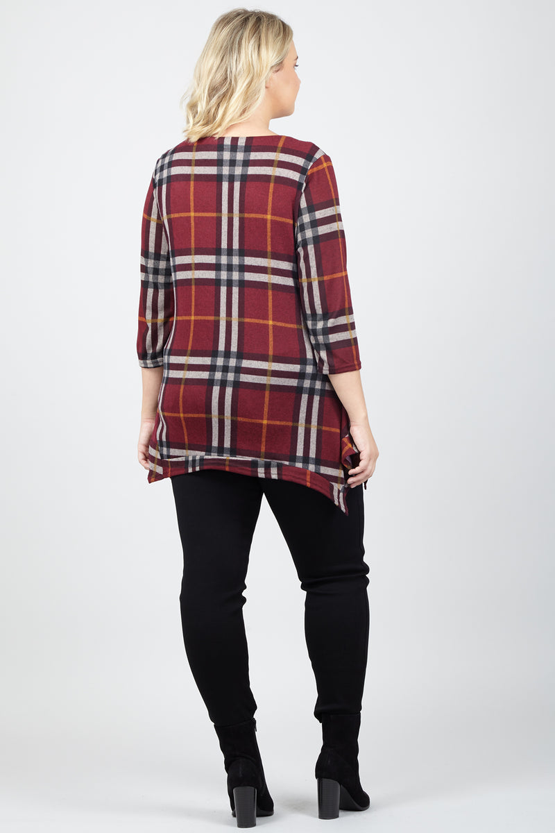 Curve Checked Swing Dress - Izabel London