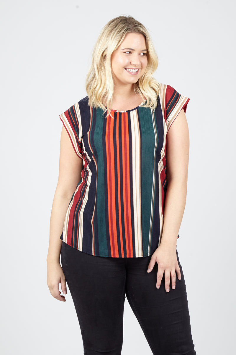 855a736c2ab1 Curve Striped Boxy Top