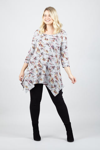 Floral Scuba Cold Shoulder Dress