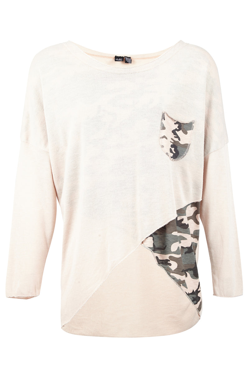 | Layered Camo Sweater | Izabel London