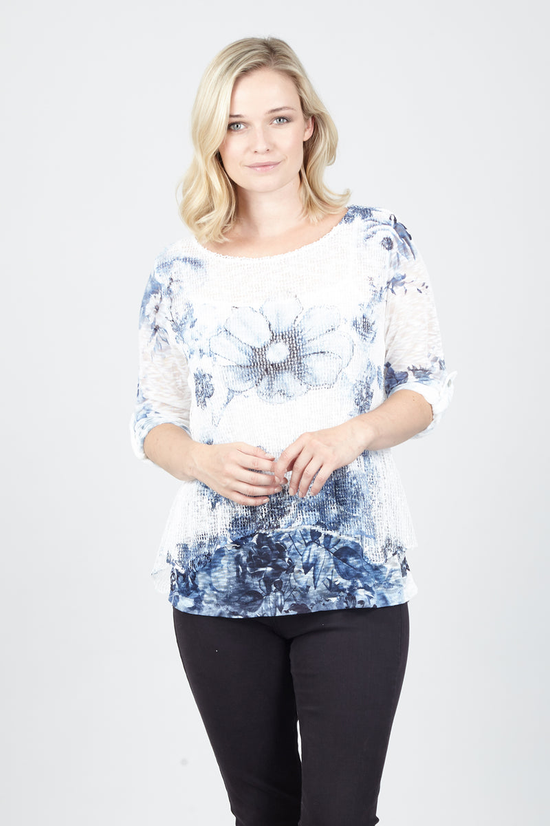 | Floral Knit Top | Izabel London