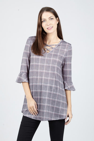 Red | Checked Swing Top