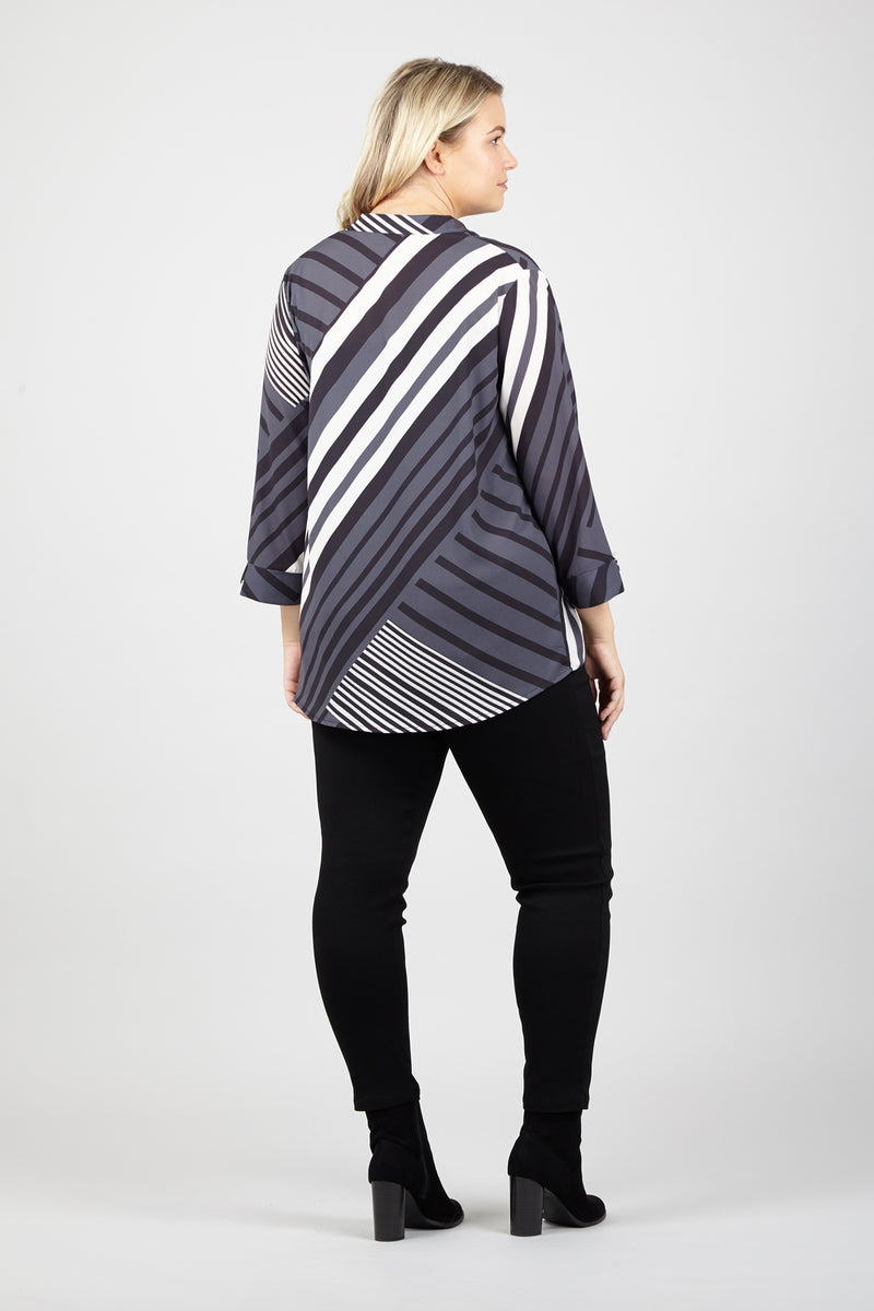| Curve Striped Blouse | Izabel London