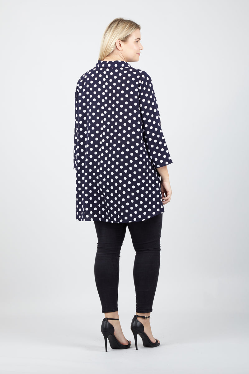 Curve Polka Dot Shirt - Izabel London