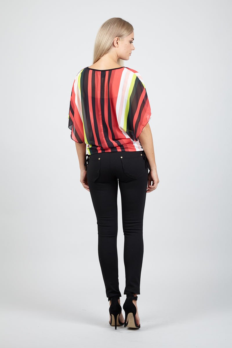 Striped Tunic Top - Izabel London