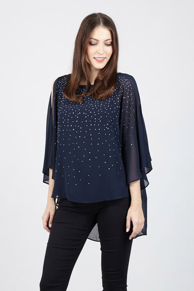 Embellished Batwing Top - Izabel London