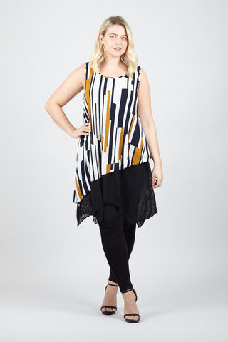 Curve Frilled Sleeve Top