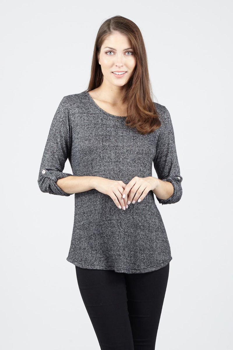 Curved Hem Top - Izabel London