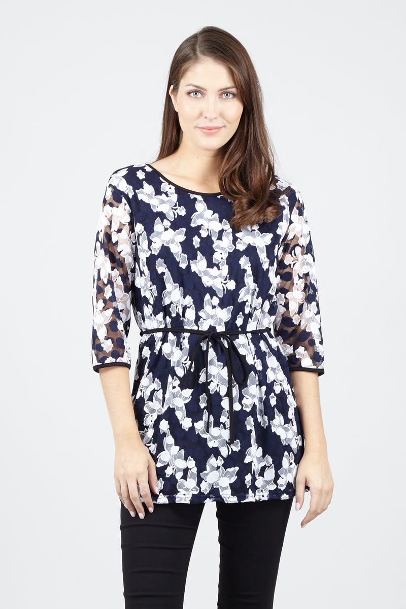 Black | Butterfly Tunic Top