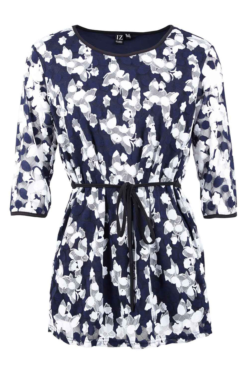 Navy | Butterfly Tunic Top