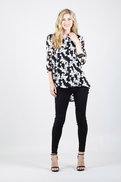 Butterfly Peplum Blouse - Izabel London