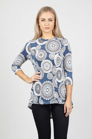 Scarf Print Tunic Dress