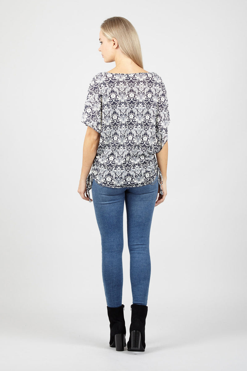 Damask Boxy Top - Izabel London