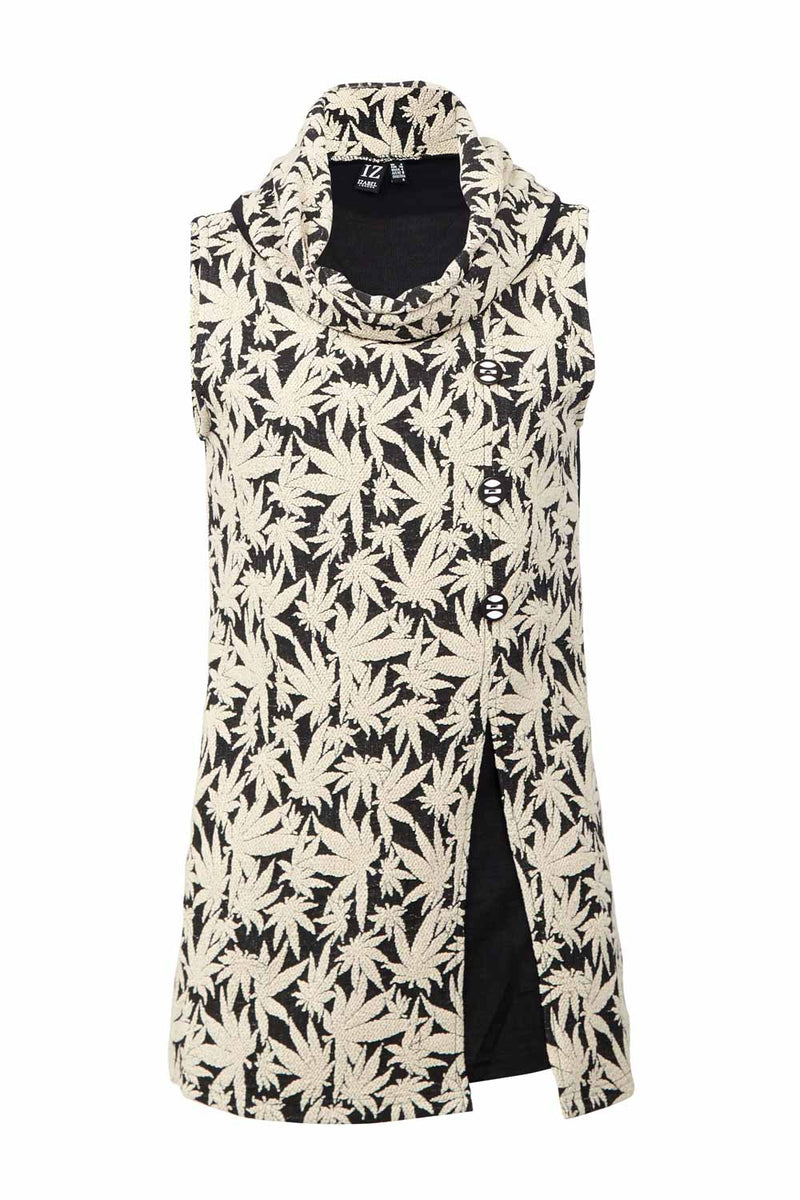 Button Front Tunic Top - Izabel London
