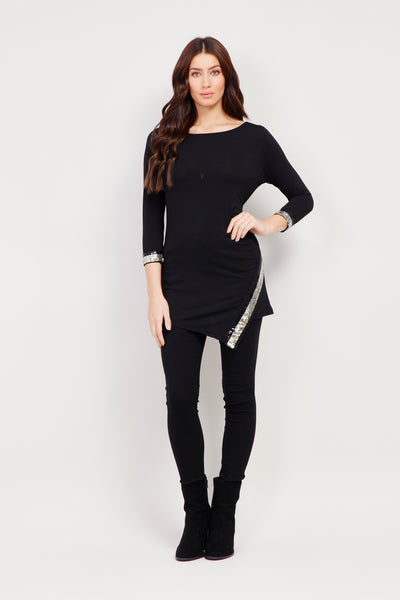 Embellished Asymmetric Top - Izabel London