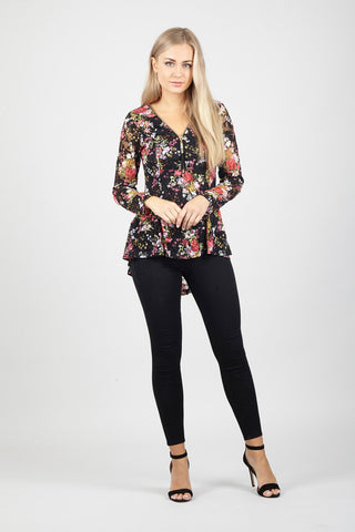 Layered Floral Crochet Top
