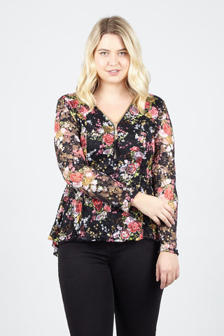 Curve Damask Top Dress