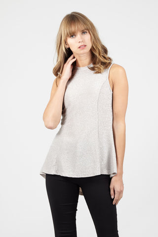 Zip Front Layered Hem Vest