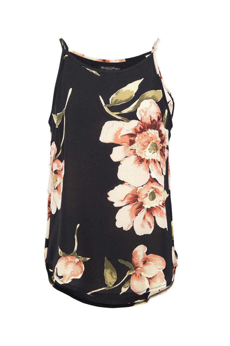 Black | Floral Cami Top