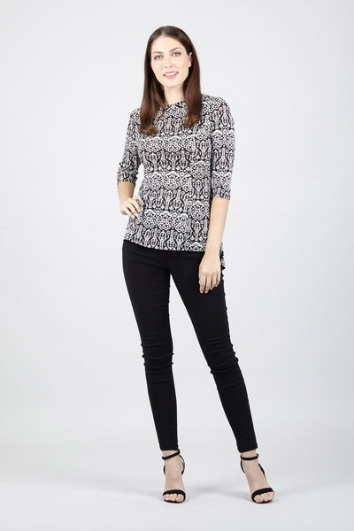 Damask Fitted Top - Izabel London