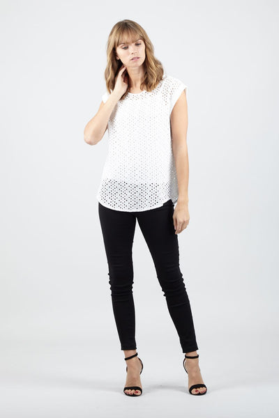Laser Cut Detail Top - Izabel London