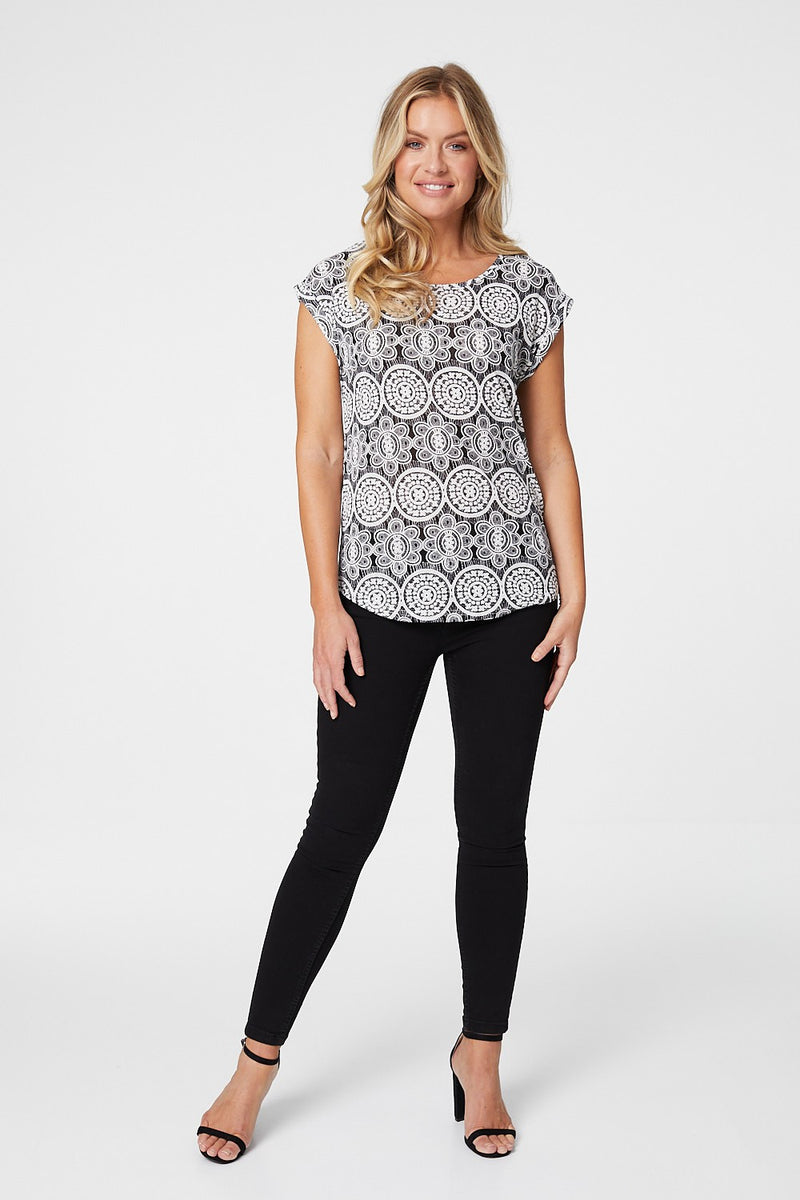 Black And White | Mosaic Print Tee