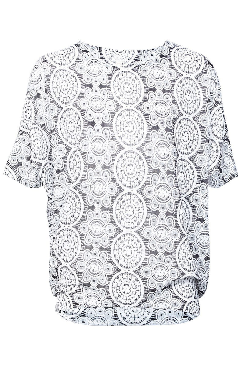 Mosaic Print Relaxed Top - Izabel London