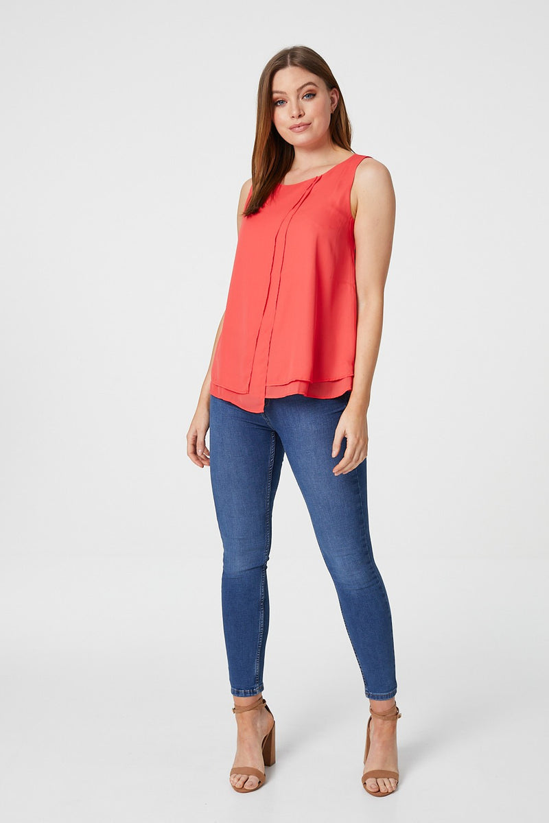 Coral | Layered Front Vest