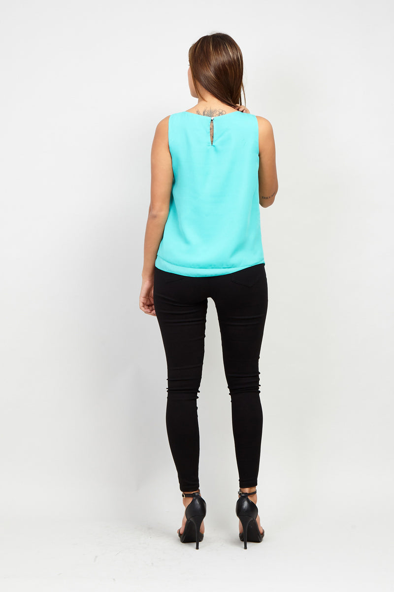 Green | Layered Front Vest