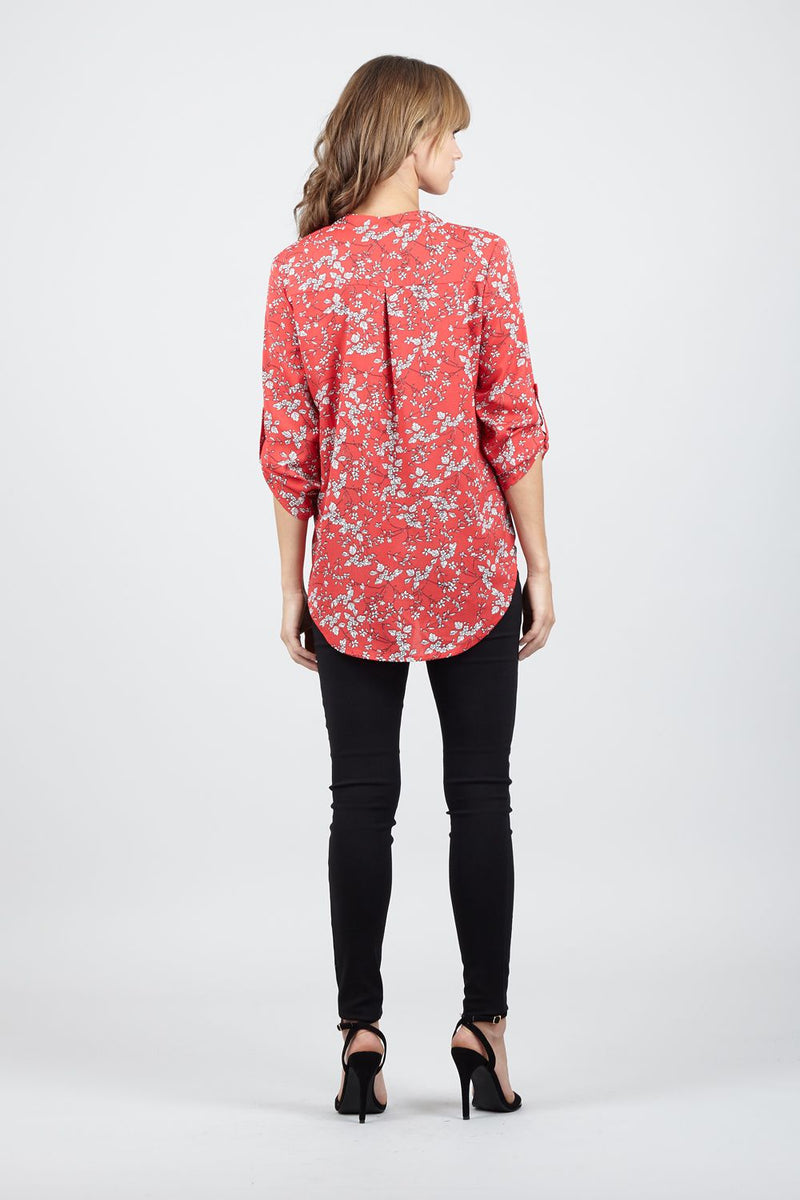 f59bba2c821edb Ditsy Floral Collarless Blouse – Izabel London